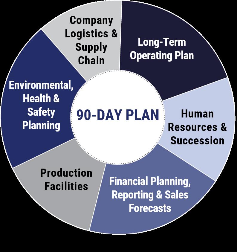 90 day plan pie chart