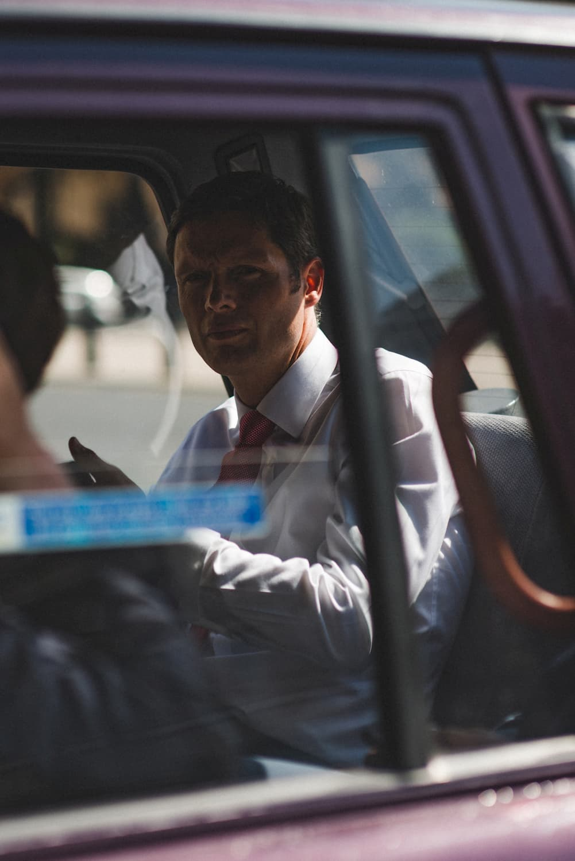 Man in cab Westgate