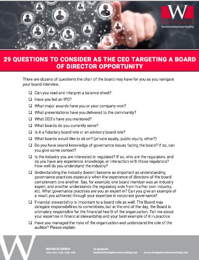 Board of Directors Questions