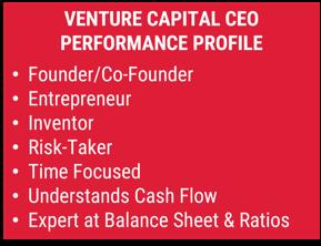 Venture capital CEO performance profile